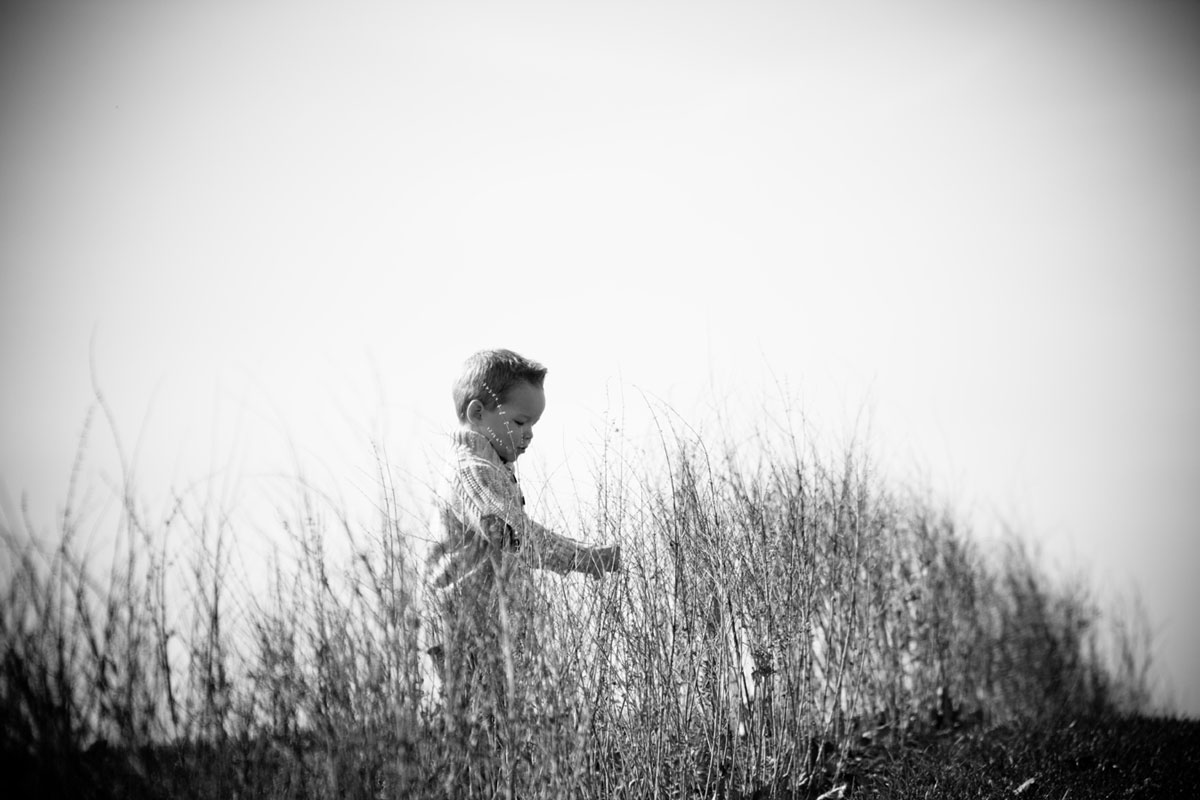 Boy and Grass