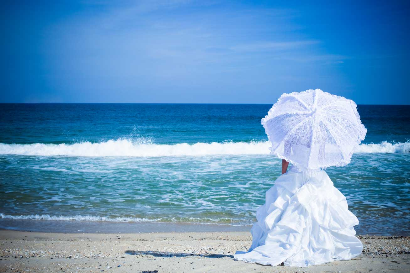 Wedding Umbrella on Beach